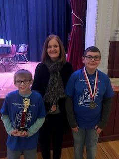 Spelling Bee Winners with Mrs. Dilts