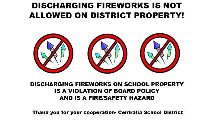 No Fireworkss on campus