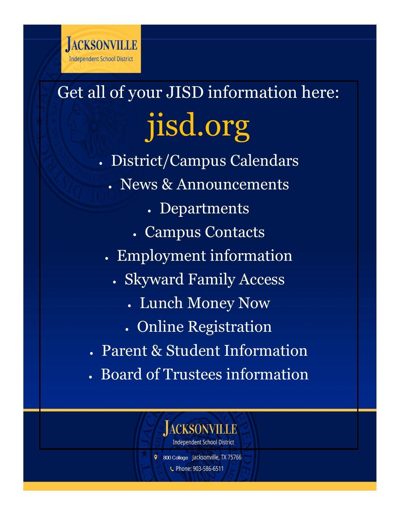 things found on the jisd website