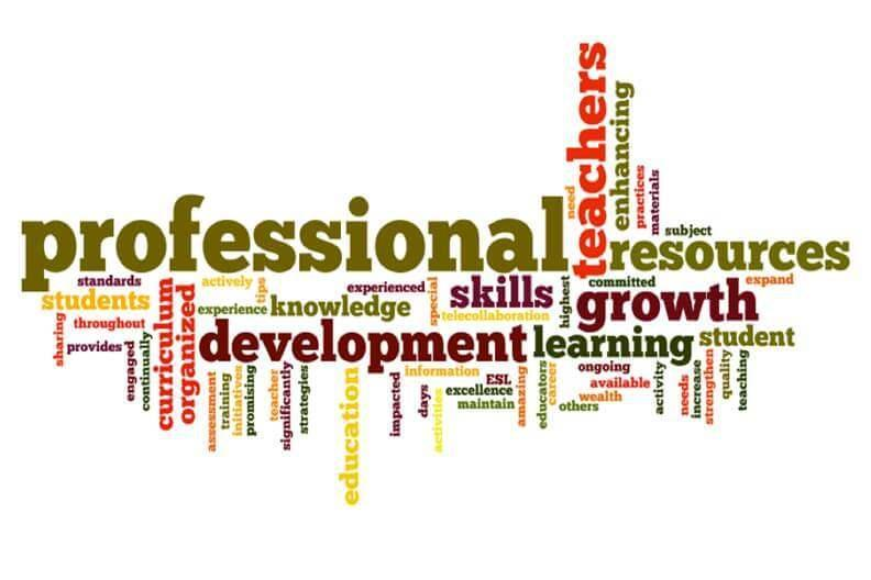 professional development word cloud