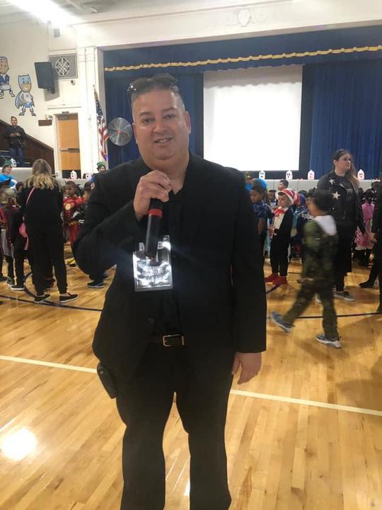 Mr. Rivera with teh microphone