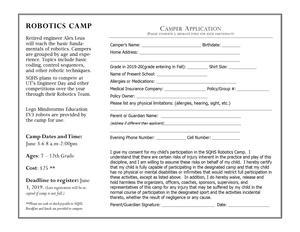 Stem Camp Registration Form