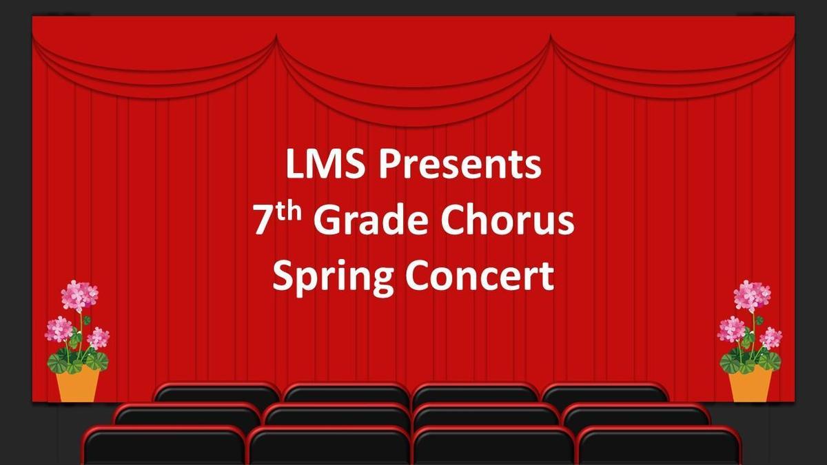 7th grade spring concert