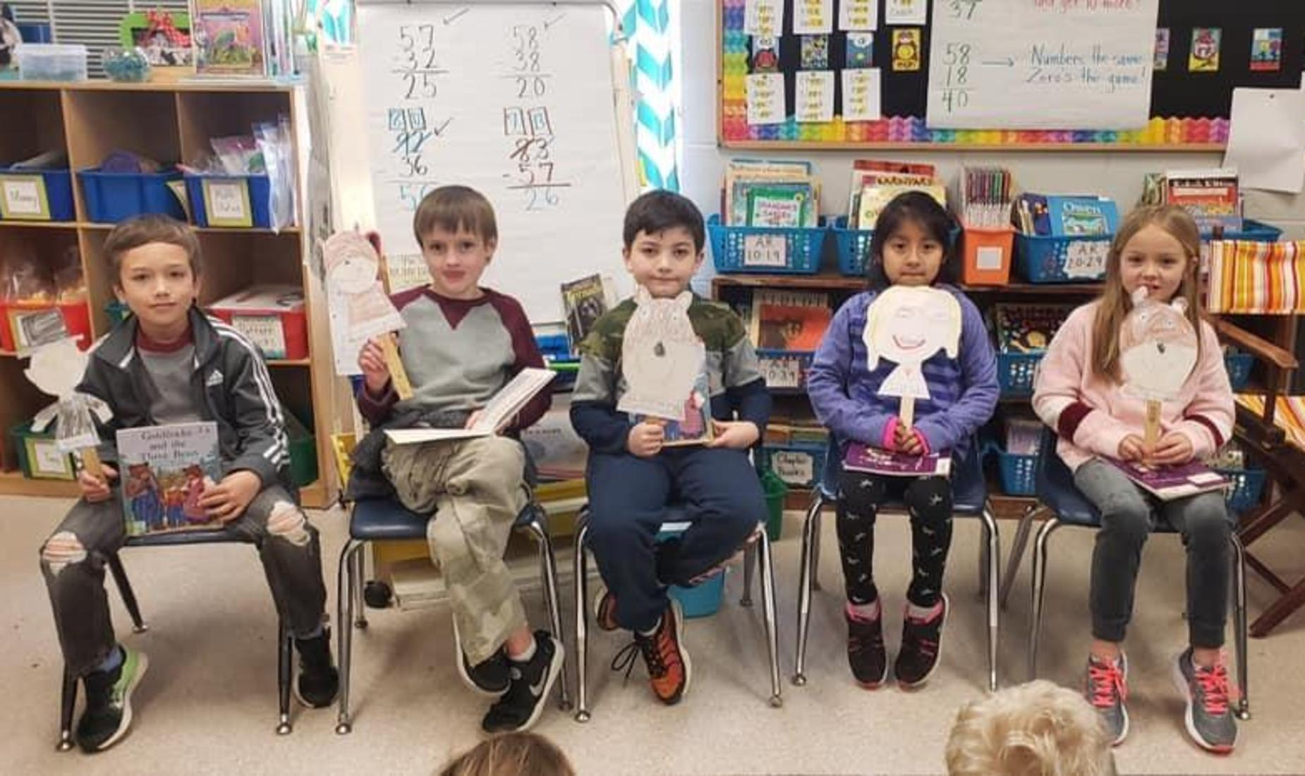 Students participating in reader's theater