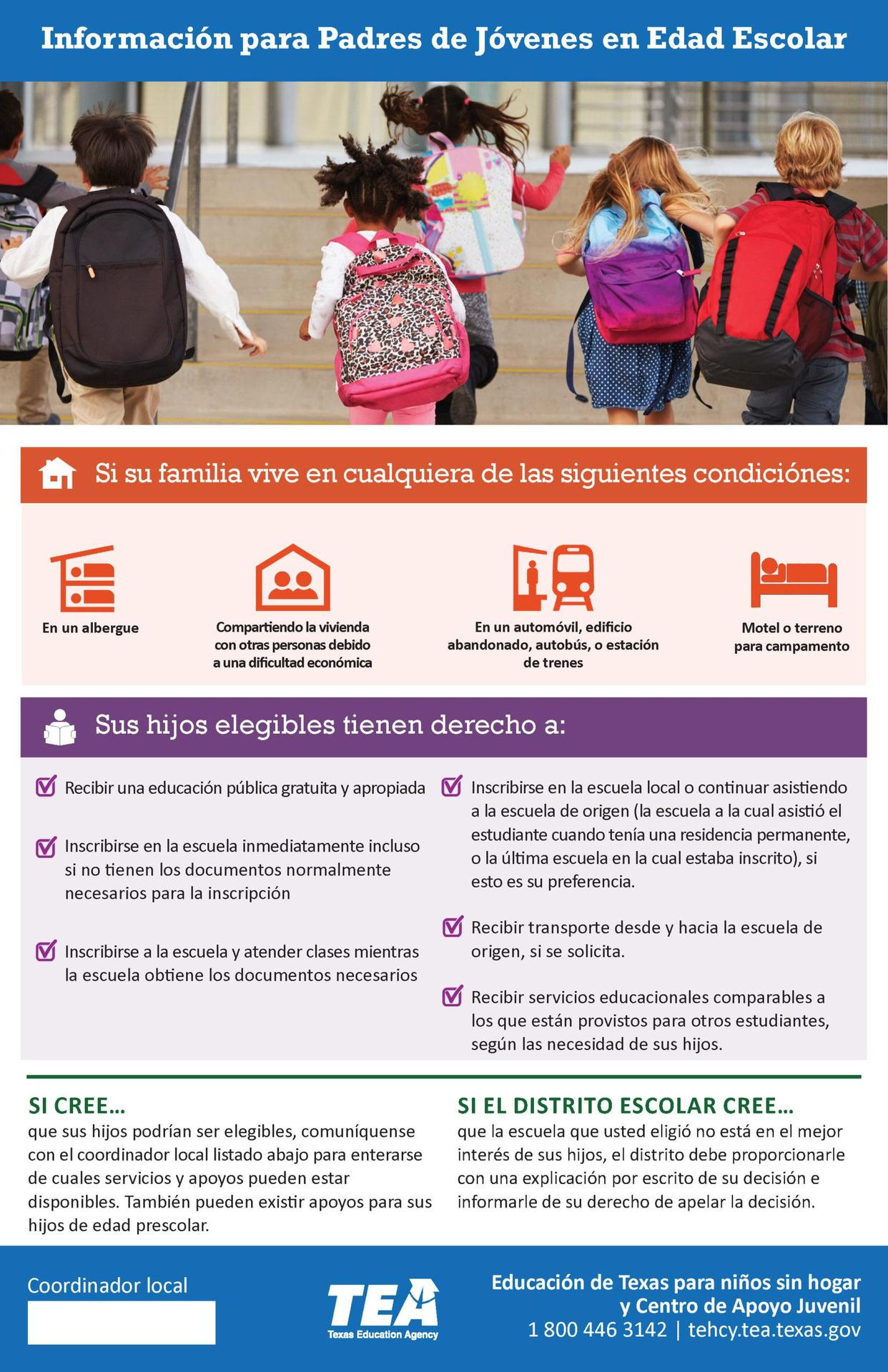 Information for Parents - Spanish