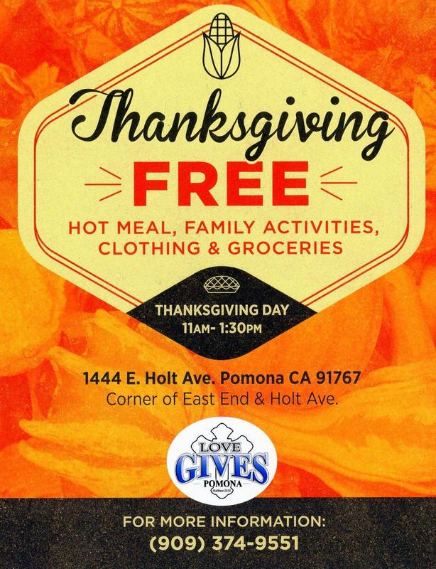 FREE Thanksgiving Hot Meal