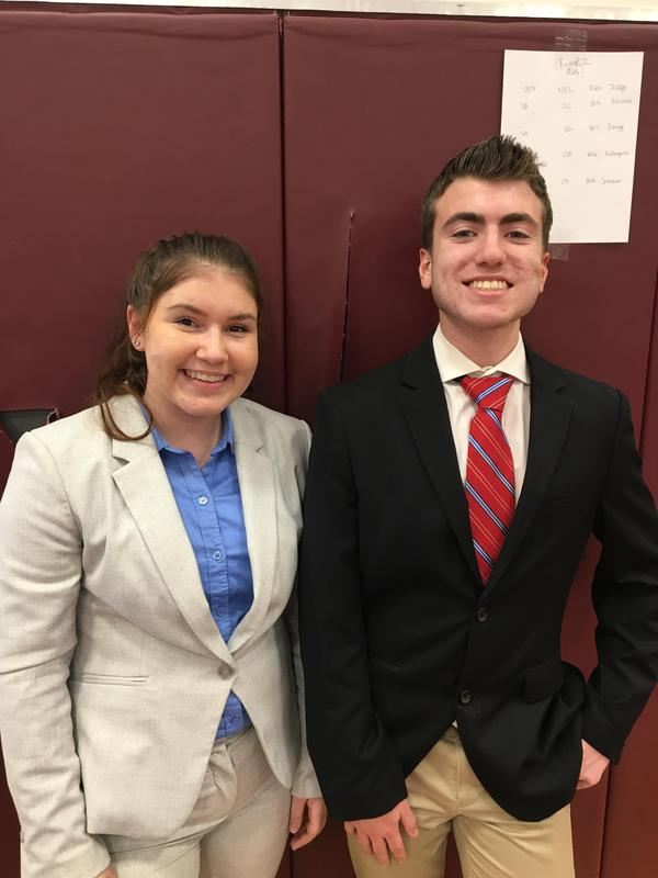 Girl and boy in professional clothing