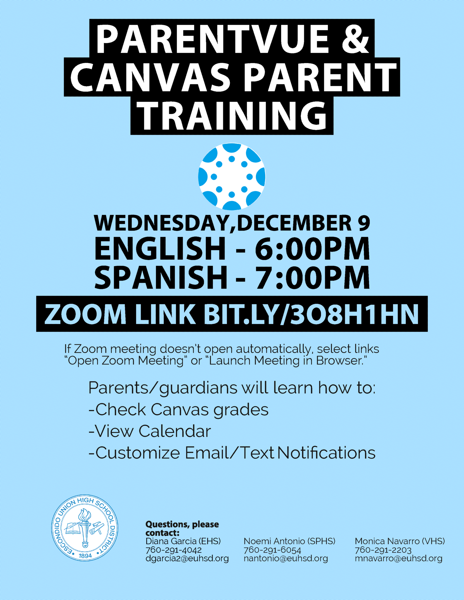 english training dates