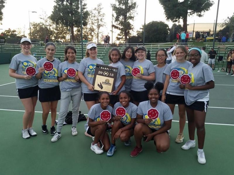 Girls' Tennis Wins CIF Title Thumbnail Image