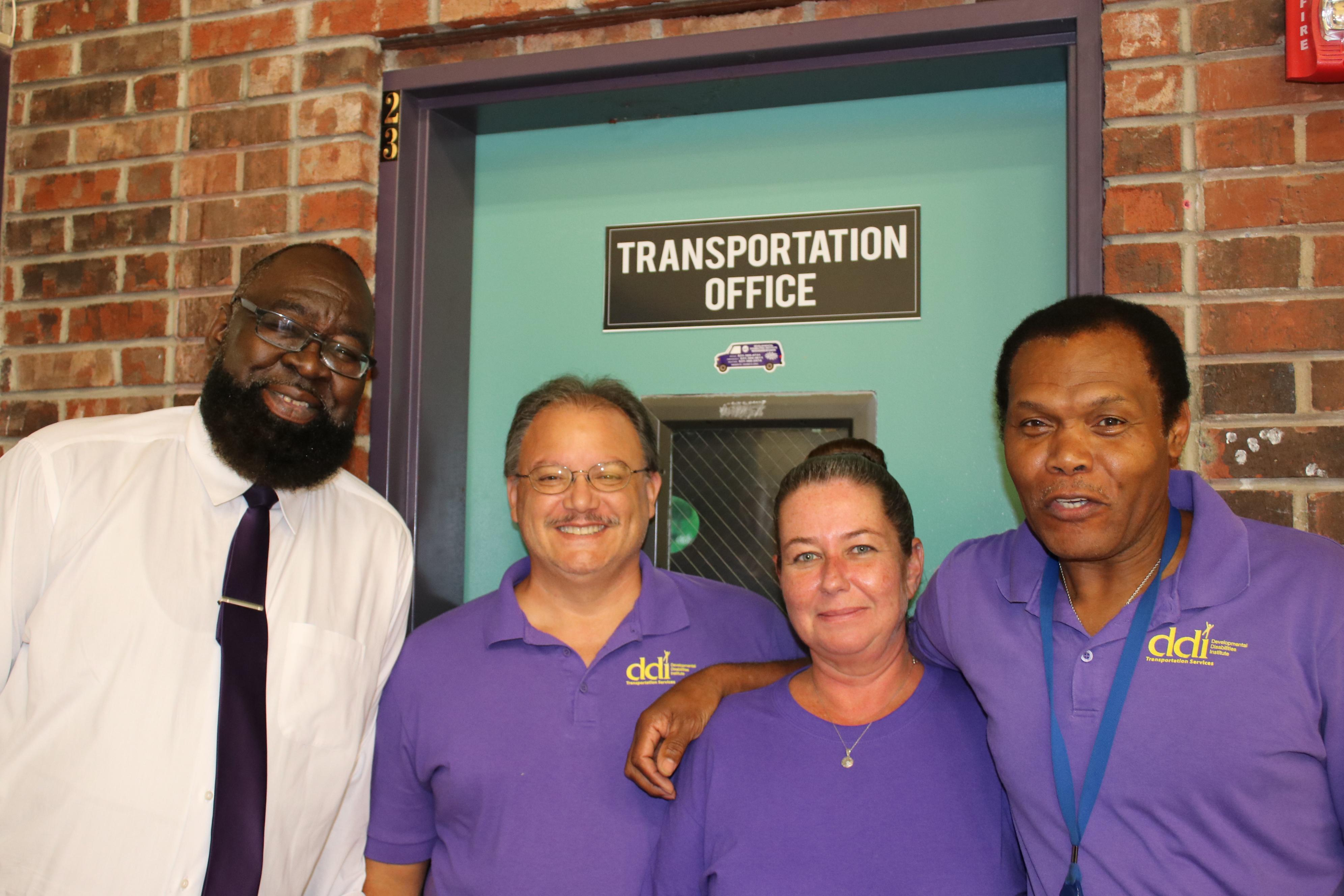 Group photo from transportation