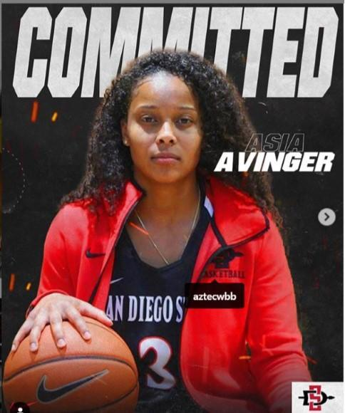 Senior Asia Avinger has committed to play basketball for San Diego State Featured Photo