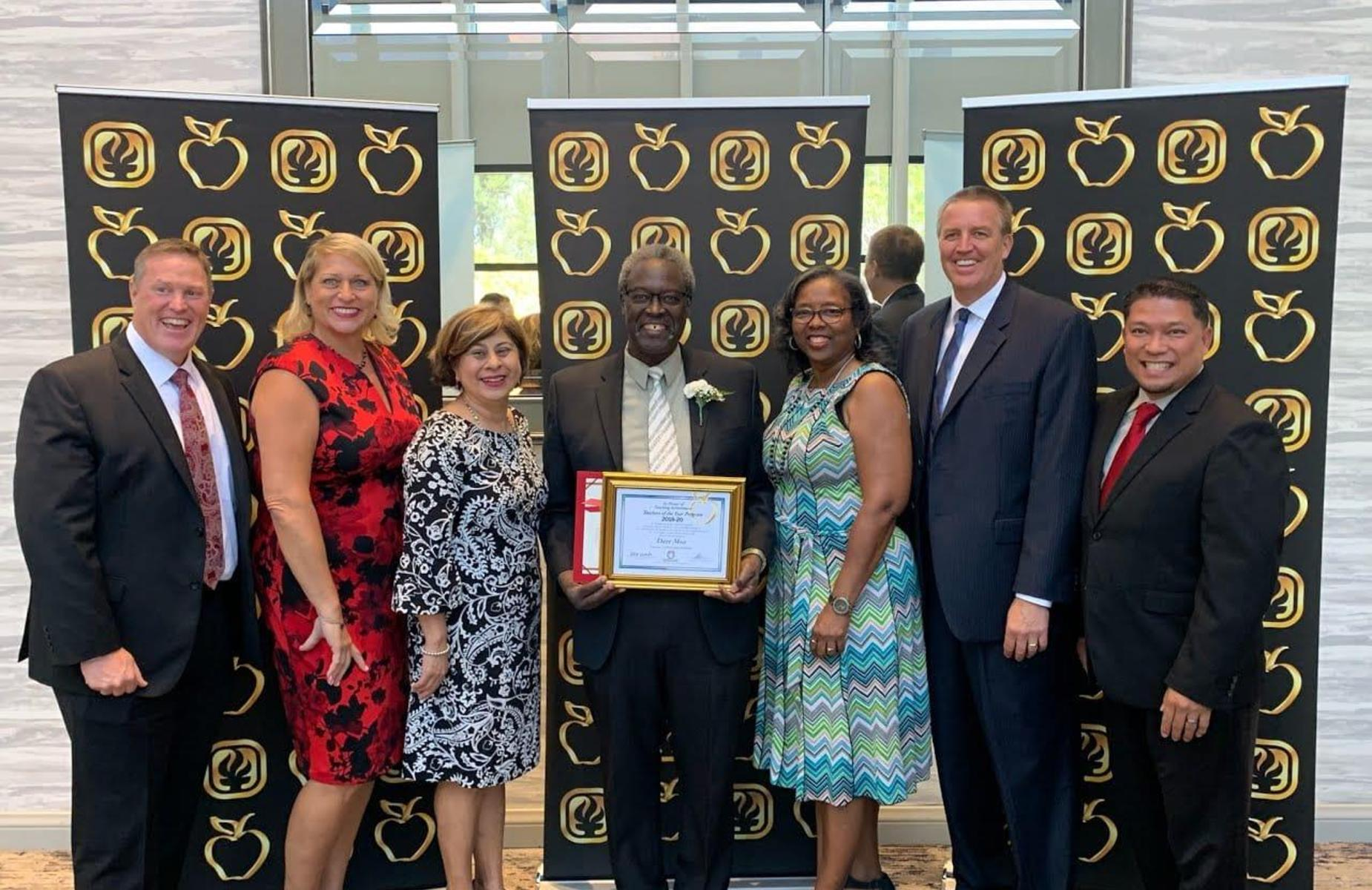 Congratulations Mr. David Moss, APT/PUSD Teacher of the Year. Celebrating 39 years of exceptional service to PUSD, the community, and students!
