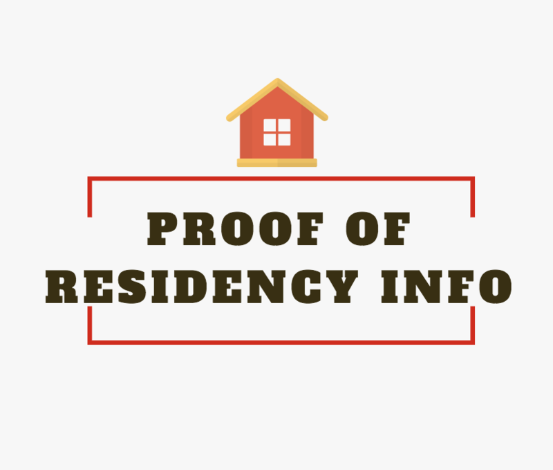 PROOF OF RESIDENCY INFORMATION Thumbnail Image