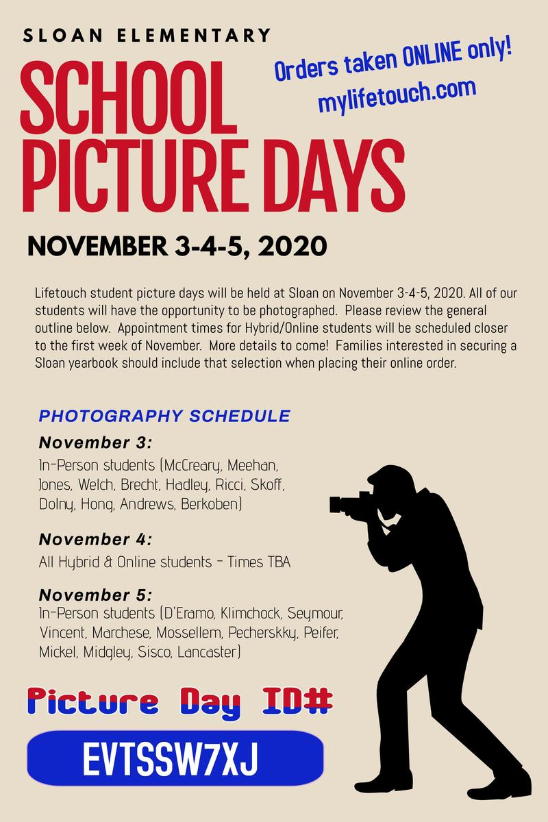 Sloan School Picture Days Featured Photo