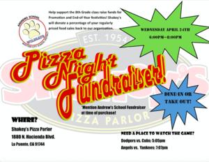 Pizza Fundraiser Flyer
