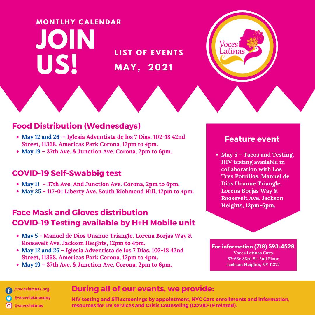 Spanish Events English Flyer
