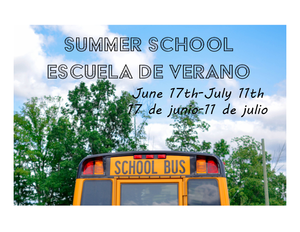 Picture of bus with summer school information