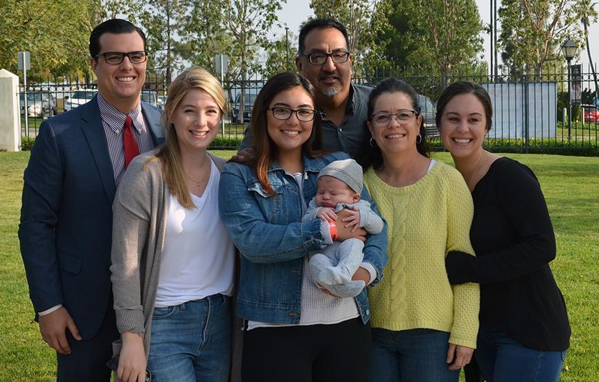 Senior Speaker with their family