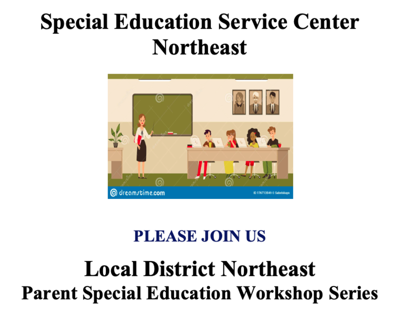 Parent Special Education Workshop Series Featured Photo