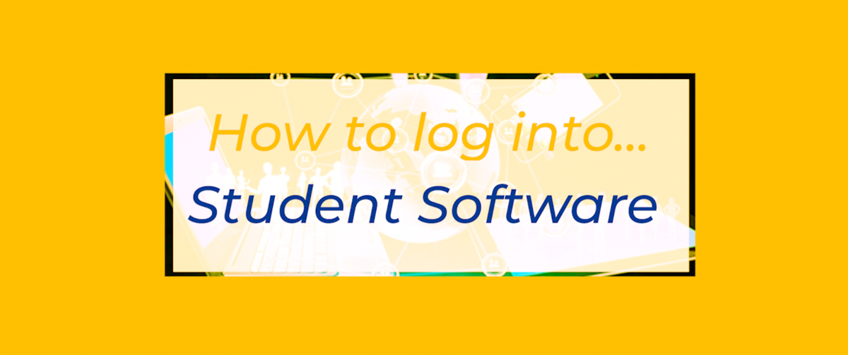 How to log into Student Software