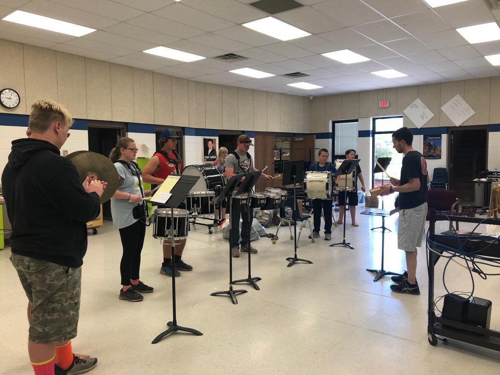 Drumline practice, Day 1