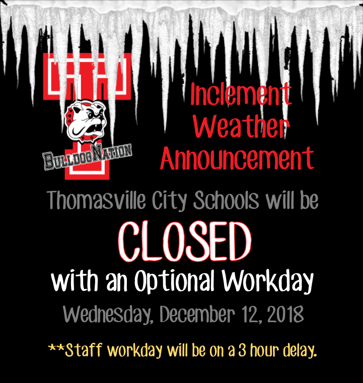 TCS Closed with Optional Workday December 12th