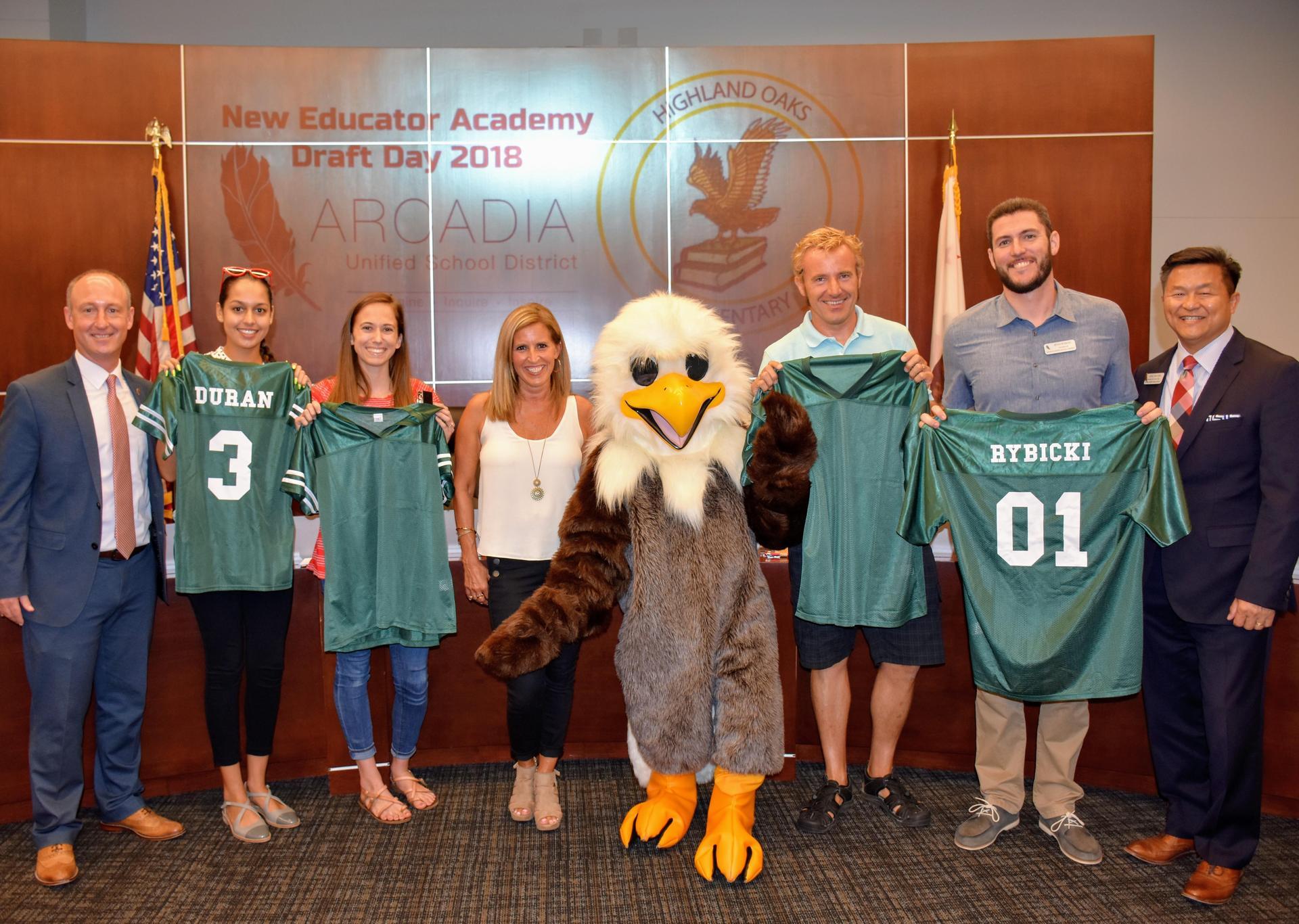 Highland Oaks Elementary Team from New Educator Academy Draft Day 2018