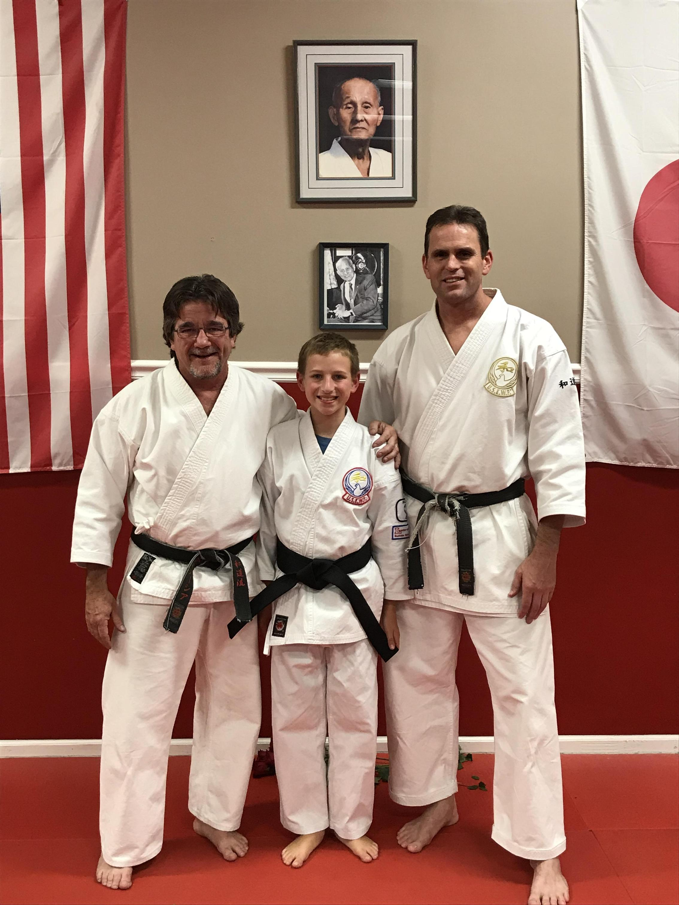 Jackson earns Black Belt, Oct 2017