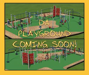 Image of new playground w words DA Playground coming soon