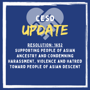 CESD Update: Resolution