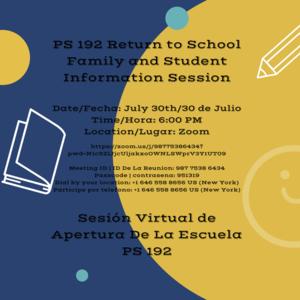 Parent Information Session 1 (Bilingual)