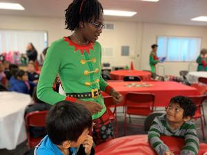 Stockdale students deliver holiday cheer and presents to local elementary schools