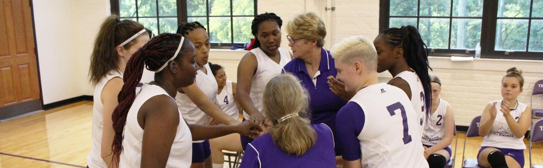 TSD Knoxville Volleyball Team in huddle