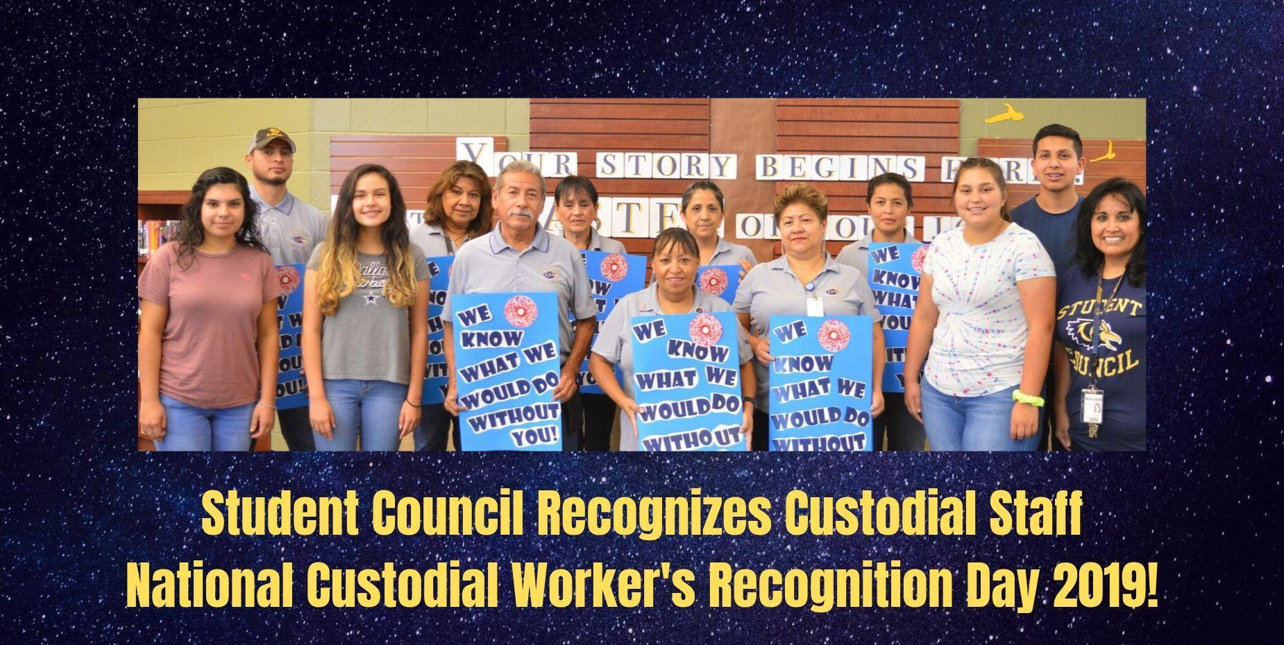 Student Council Recognizes Custodial Staff
