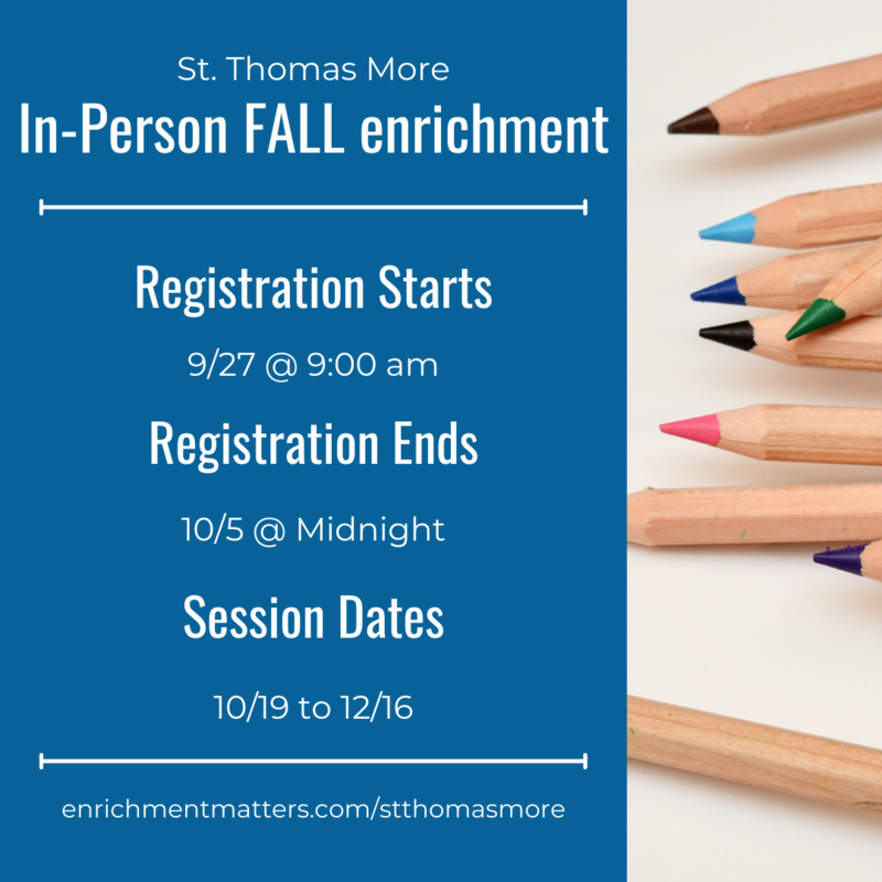 In-Person After School Enrichment Registration Opens Monday, September 27 Featured Photo