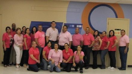Cancer Awareness wears PINK. Staff and students from Roosevelt Alternative School