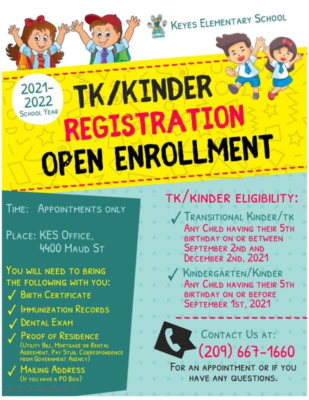 TK/Kinder Registration