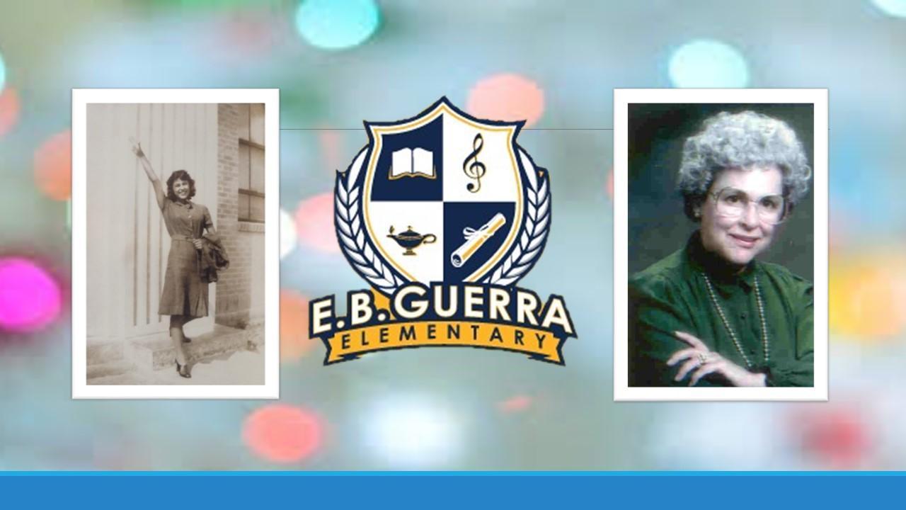 Image of Guerra logo and Enedina B. Guerrra