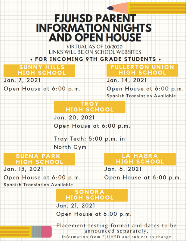 English Information and Open House