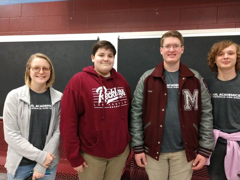 State UIL Science Team: Drew Castleberry, Riley Andrus, Travis Ford, and Sawyer Liner