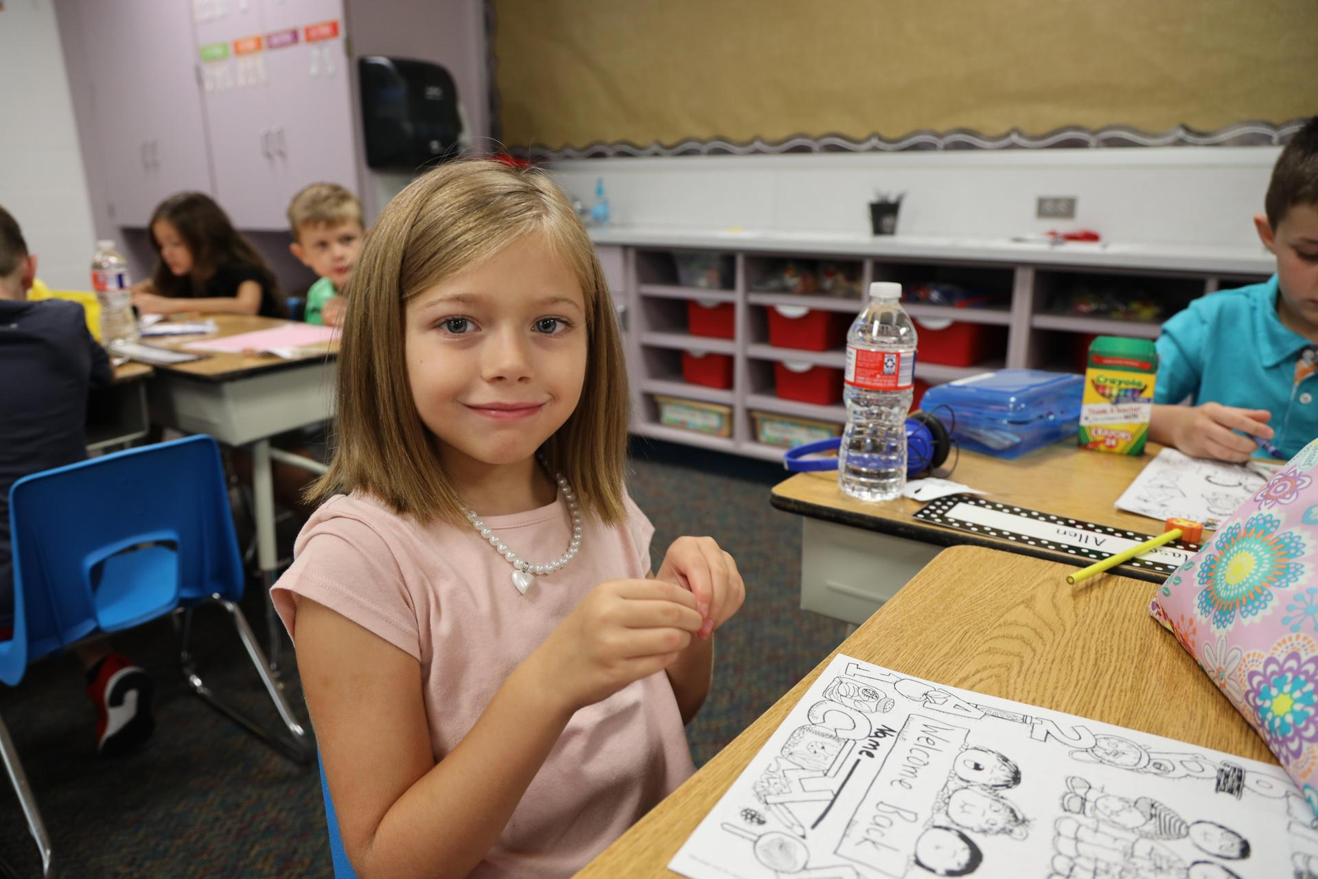 Fairmont Elementary students on the first day of school.