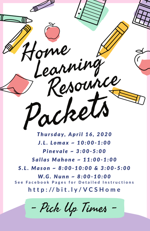 Home Learning Resource Packet Pickup