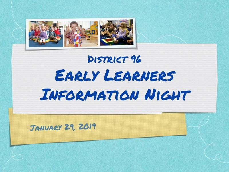 Pre-Registration for 2019-20 Early Learners Program Begins February 1, 2019 Featured Photo