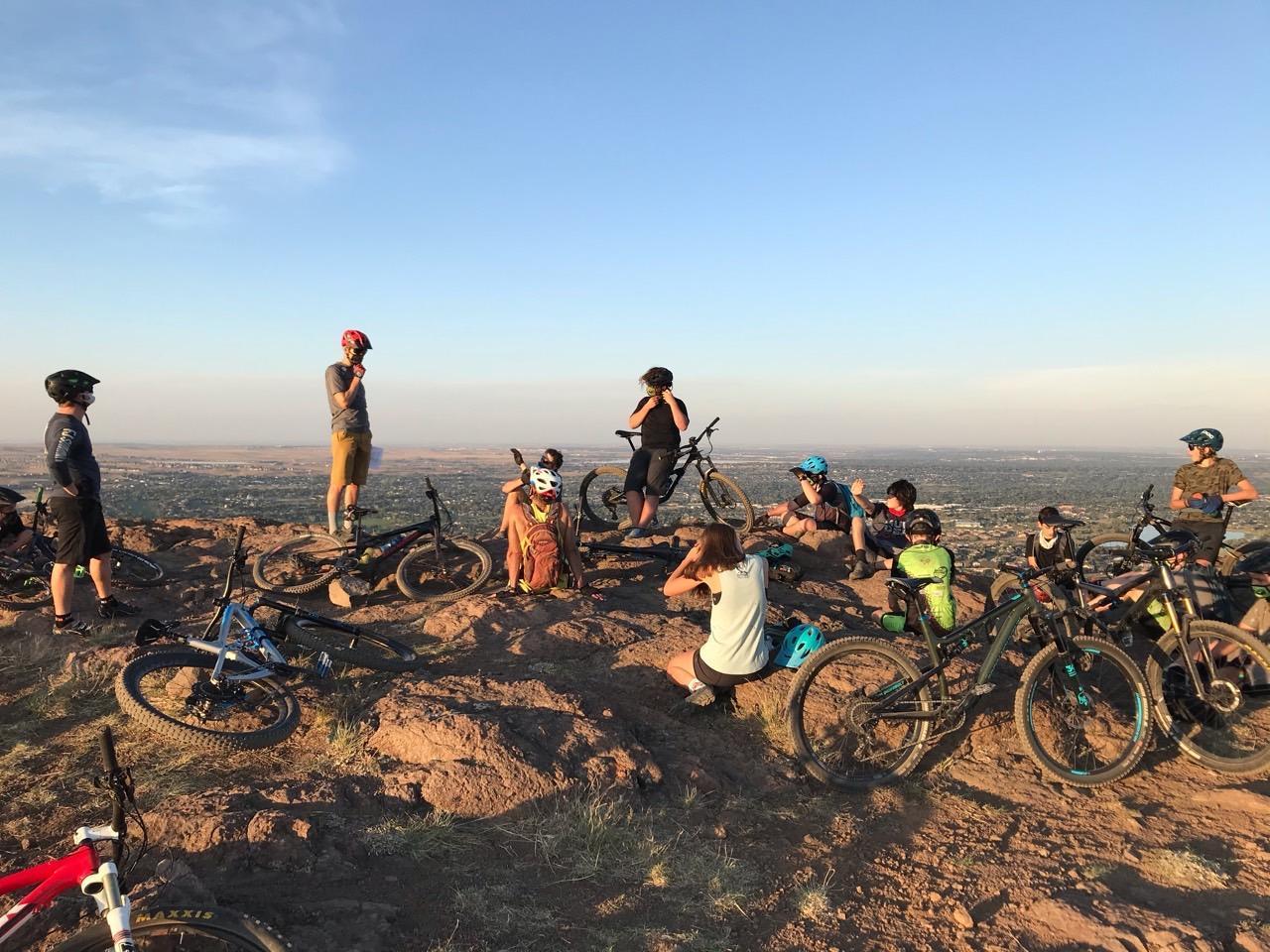 Mountain Bike Team on trails