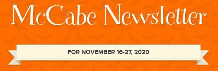 McCabe Newsletter for November 16-20 Thumbnail Image