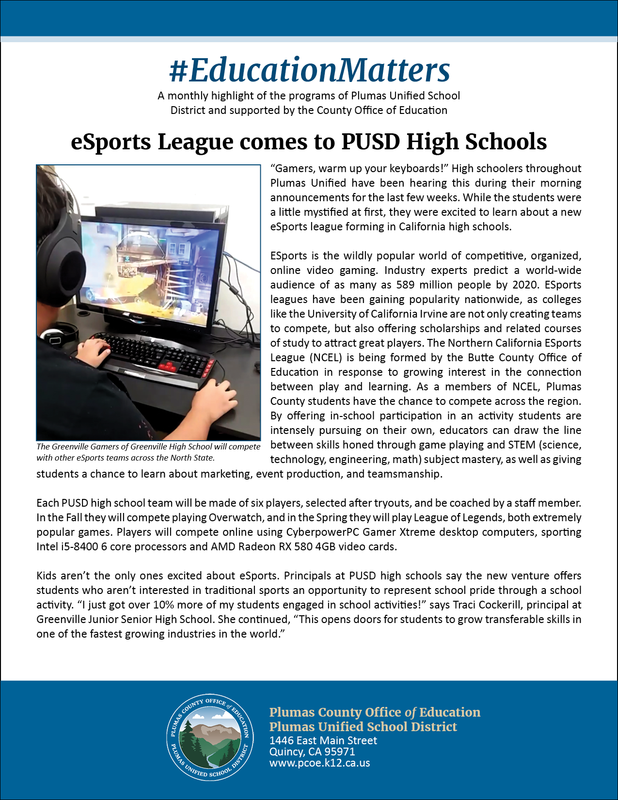 eSports League Article with photo