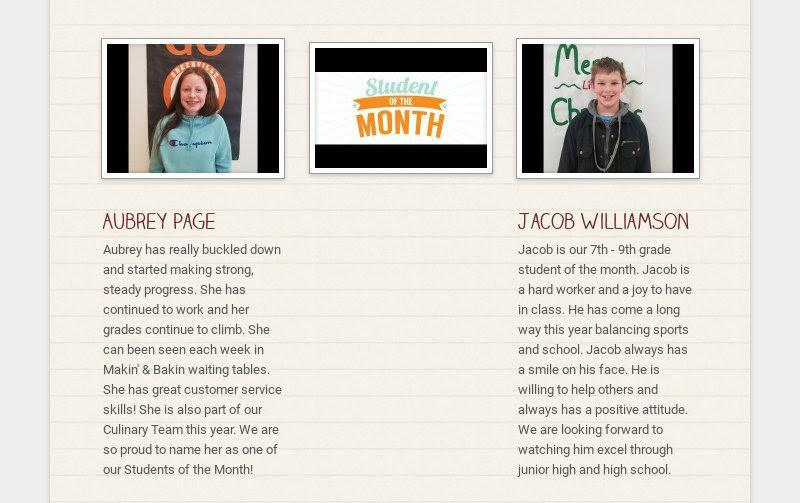 Dec GJSHS students of the month