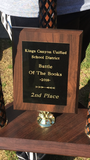 Battle of the books 2nd place trophy