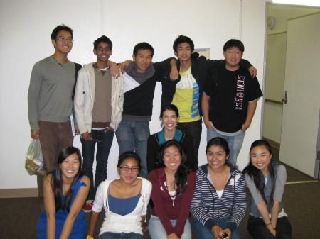 Group of 8 students and one teacher