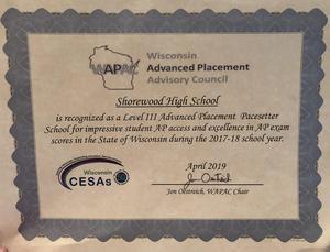 WAPAC Award certificate